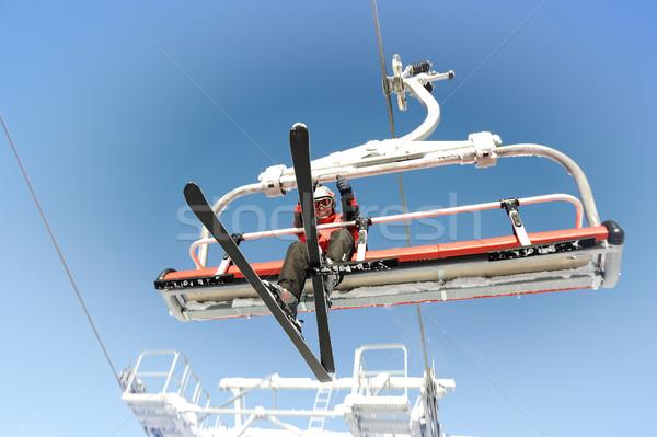 Ski lift carrying skiers. Stock photo © zurijeta