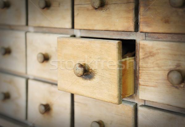 Old ancient drawer Stock photo © zurijeta
