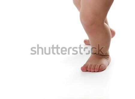 Baby legs isolated on white background Stock photo © zurijeta