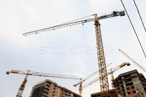 Binalar inşaat iş gökyüzü çerçeve Stok fotoğraf © zurijeta