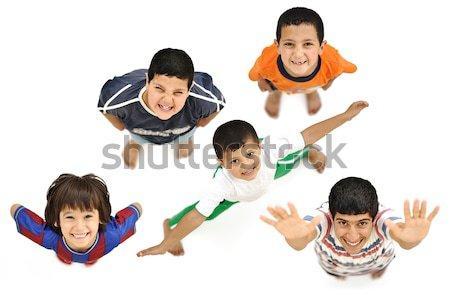 Mutlu çocuklar pozitif taze gülen erkek Stok fotoğraf © zurijeta