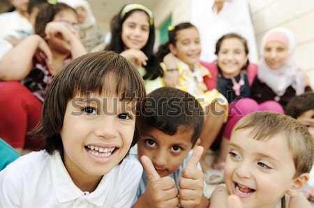 Grande gruppo folla felice bambini diverso estate Foto d'archivio © zurijeta