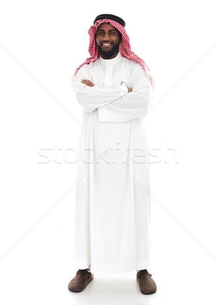 Emiraty osoby uśmiech twarz szczęśliwy biznesmen Zdjęcia stock © zurijeta