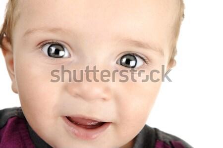 Adorável bebê cara retrato feliz Foto stock © zurijeta