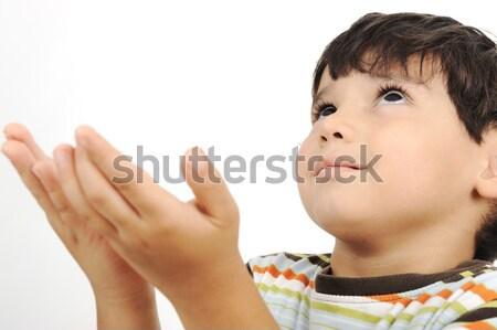 мало мусульманских Kid молиться традиционный способом Сток-фото © zurijeta