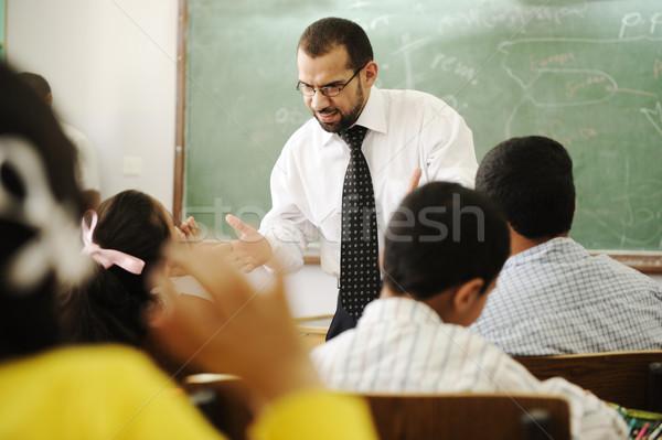Mad angry teacher Stock photo © zurijeta