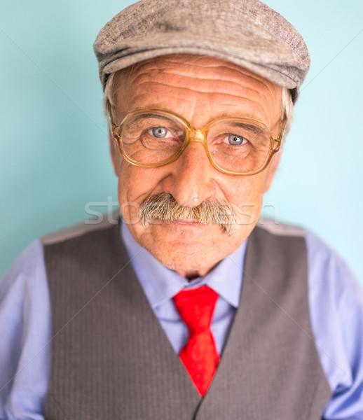 Portret uśmiechnięty dojrzały biznesmen starszy dobrze wygląda Zdjęcia stock © zurijeta