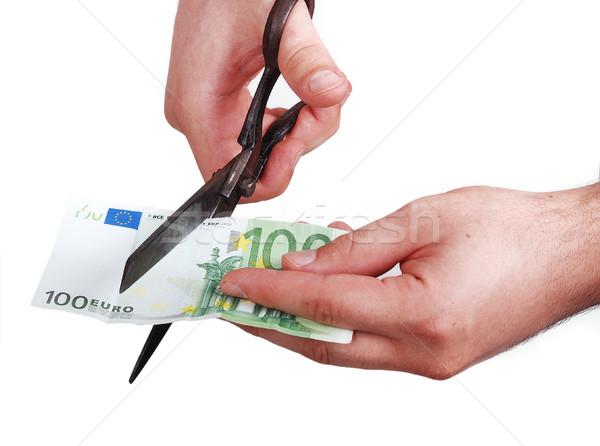 Stockfoto: Mannelijke · handen · geld · papier · textuur