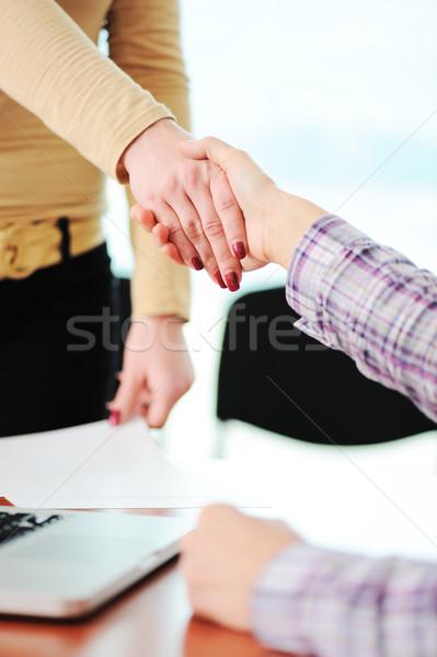 Zdjęcia stock: Udany · wiele · handshake · gratulacje