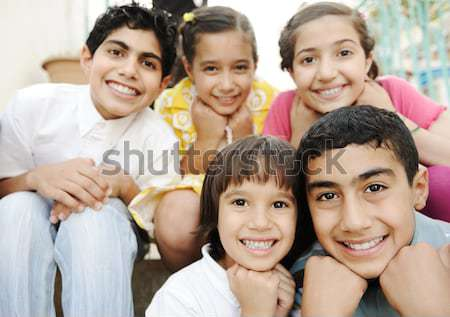 Group of happy children Stock photo © zurijeta