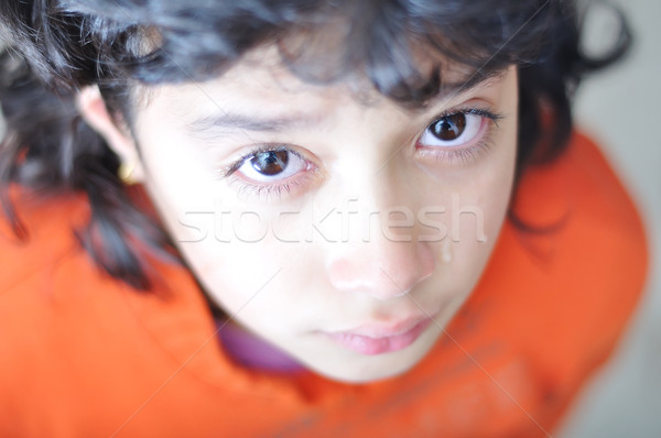 Little girl is crying Stock photo © zurijeta