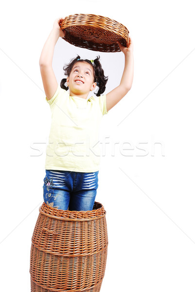 Stock photo: Playing in childhood in isolated background