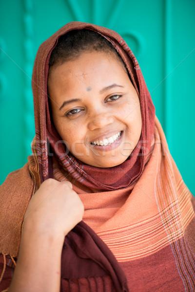 африканских арабский девушки мусульманских женщину улыбка Сток-фото © zurijeta