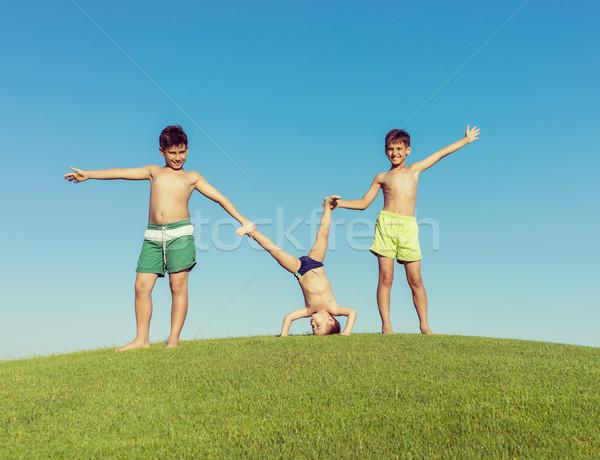 O melhor férias de verão férias feliz férias de verão crianças Foto stock © zurijeta
