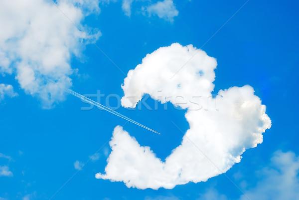 Сток-фото: облаке · аннотация · сердце · знак