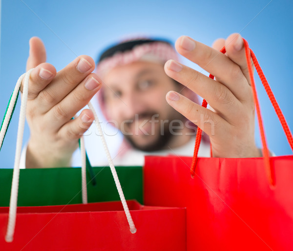 Arabian mall shopper Stock photo © zurijeta
