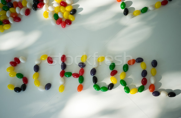School colorful candy Stock photo © zurijeta