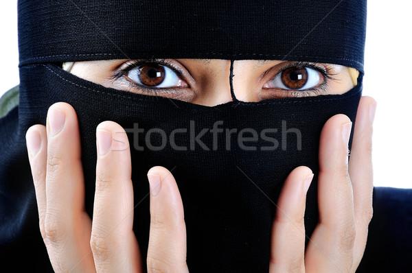 Asian arabic muslim woman with significant clothes Stock photo © zurijeta