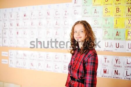 Sevimli sınıf elemanları gülümseme Stok fotoğraf © zurijeta
