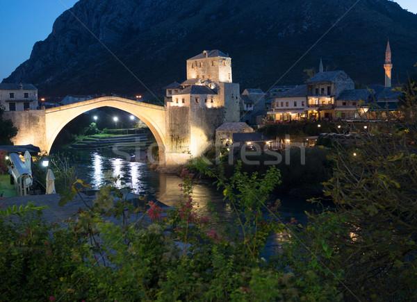 Edad puente Bosnia Herzegovina edificio ciudad paisaje Foto stock © zurijeta