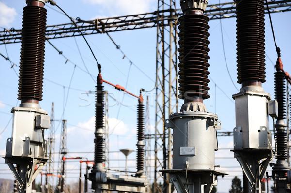 Elektromos erőmű készít elektromos energia égbolt fém Stock fotó © zurijeta
