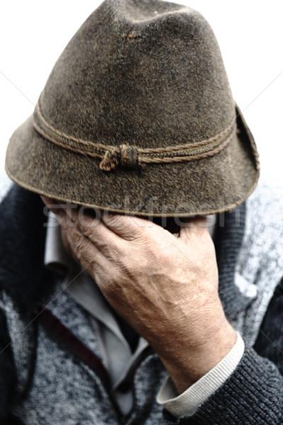 Сток-фото: Nice · изображение · одиноко · старик · лице · модель