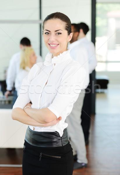 üzletemberek stressz gondok iroda nő kezek Stock fotó © zurijeta