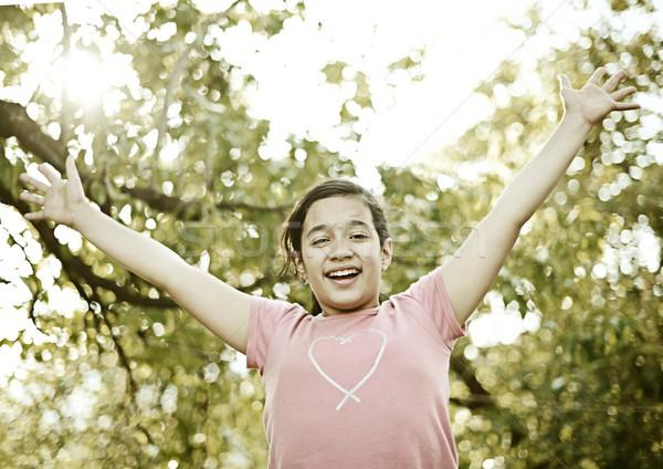 Colorized happy children enjoying childhood Stock photo © zurijeta
