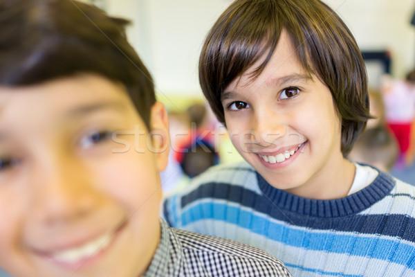 Boldog gyerekek portré arc szemek gyermek Stock fotó © zurijeta