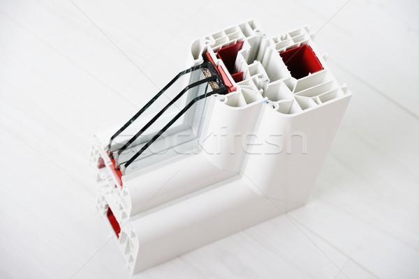 Plastic window profile Stock photo © zurijeta