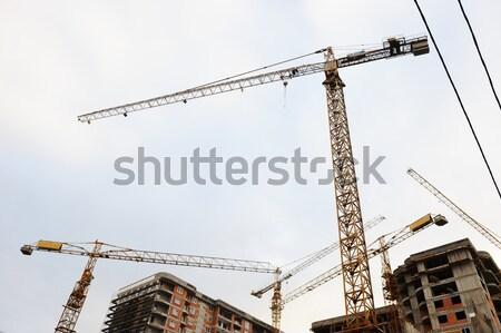Edifícios construção negócio céu quadro Foto stock © zurijeta