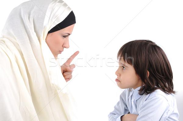 Moslim moeder zoon familie mode kind Stockfoto © zurijeta