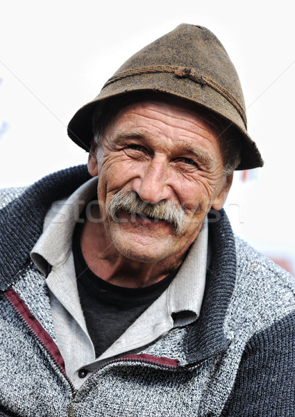 Very Nice Image of a Happy Old man Smiling Stock photo © zurijeta