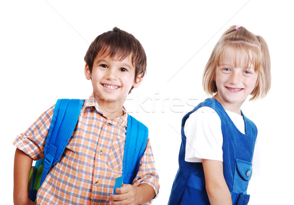 School children isolated Stock photo © zurijeta