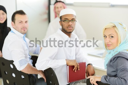 Stock photo: Middle eastern people having a business meeting at office