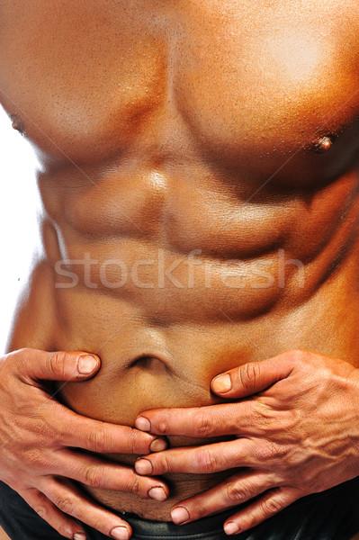 The Perfect male body isolated, bodybuilder champ Stock photo © zurijeta