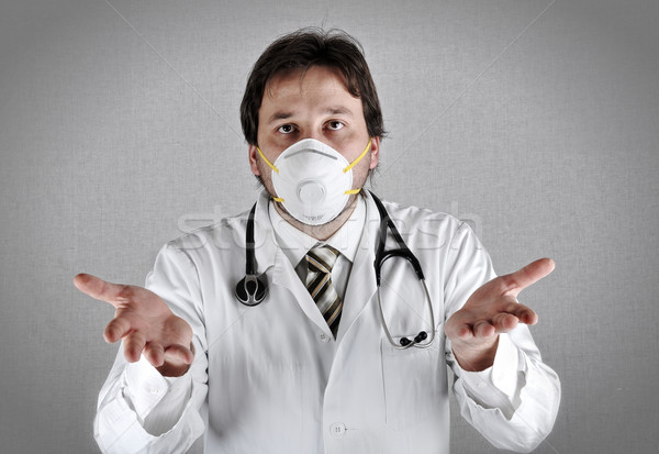 Worried doctor with a problem Stock photo © zurijeta