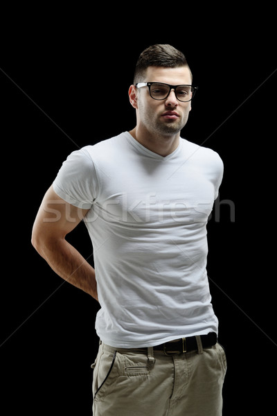 Casually dressed male model Stock photo © zurijeta