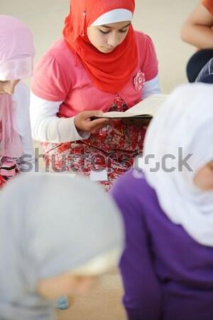 ムスリム アラビア語 女の子 学習 一緒に グループ ストックフォト © zurijeta