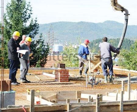 Arbeiten Gebäude Projekt Bau Industrie Stock foto © zurijeta