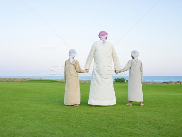 Happy Arabic family on summer vacation Foto stock © zurijeta