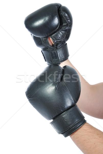боксерская перчатка рук тело окна мальчика энергии Сток-фото © zurijeta