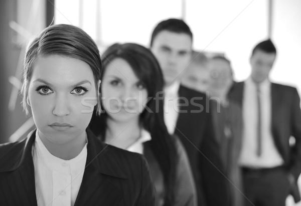 Zespół firmy sześć osób piękna garnitur pracy zespołu Zdjęcia stock © zurijeta