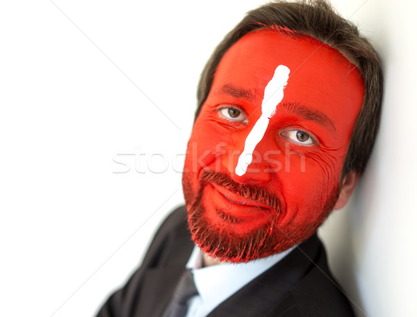 Concept of businessman with colorful painted face Stock photo © zurijeta