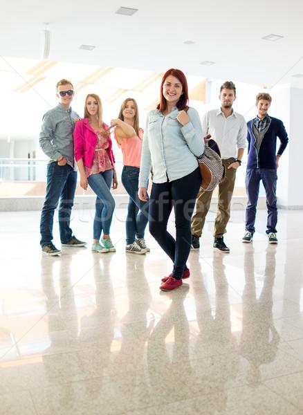студентов Постоянный прихожей школу школы Сток-фото © zurijeta