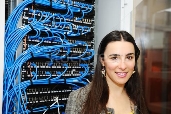 Feminino administrador servidor quarto sorrir cara Foto stock © zurijeta