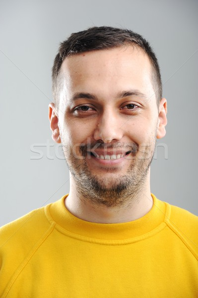 портрет молодым человеком улыбаясь лице счастливым бизнесмен Сток-фото © zurijeta