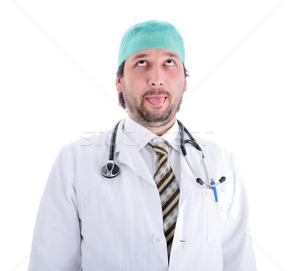 Stupido medico uomo lavoro medici medicina Foto d'archivio © zurijeta
