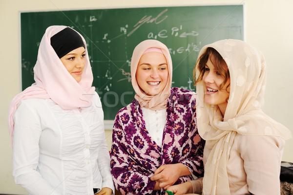 Zdjęcia stock: Przypadkowy · grupy · studentów · patrząc · szczęśliwy · uśmiechnięty