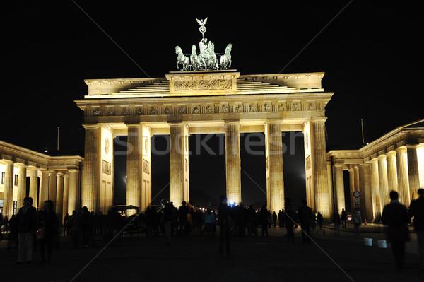 Brandenburg Gate at night Stock photo © zurijeta